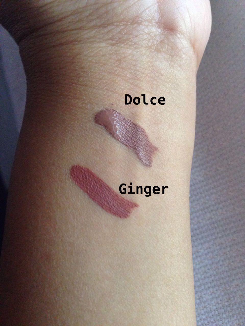 Jual Kylie Matte Liquid Lipstick Dolce K: Kylie Dolce Vs Kylie Ginger Matte Lips